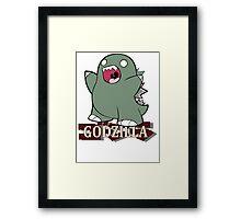 Custom Funny Angry Godzilla Framed Print