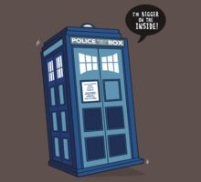 Bigger on the Inside - Doctor Who Shirt Baby Tee