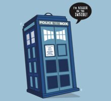 Bigger on the Inside - Doctor Who Shirt by BootsBoots