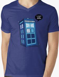 Bigger on the Inside - Doctor Who Shirt Mens V-Neck T-Shirt