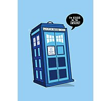 Bigger on the Inside - Doctor Who Shirt Photographic Print