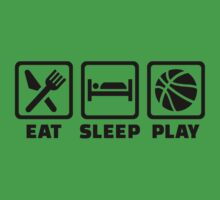 Eat Sleep play Basketball Kids Tee