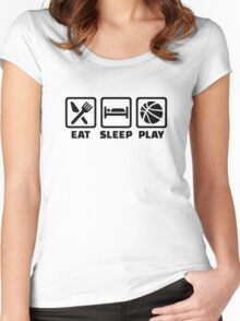 Eat Sleep play Basketball Women's Fitted Scoop T-Shirt