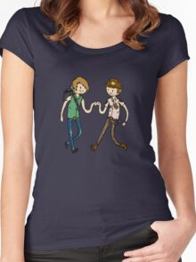 Walking Death Time Women's Fitted Scoop T-Shirt