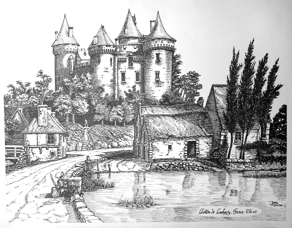 Chateau de Combourg France 1016ad by John W. Cullen