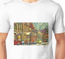 BAGG STREET SYNAGOGUE MONTREAL AND HOCKEY GAME Unisex T-Shirt