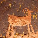 Desert Ram Petroglyph near Moab by Ryan Houston