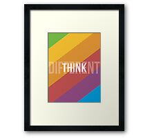 Think Different Framed Print