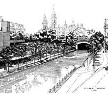 Rideau Canal Ottawa 1971 by John W. Cullen