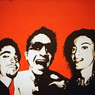 self portrait with my brother & sister by Aaron Barbara