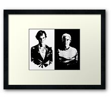 Sherlock and John Framed Print