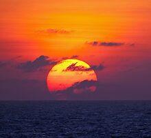 OPEN SEAS SUNSET by Daniel-Hagerman