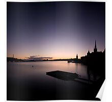 Stockholm Sunset Silhuette Poster