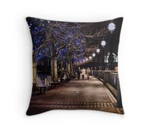 A Stroll Along The Thames Throw Pillow