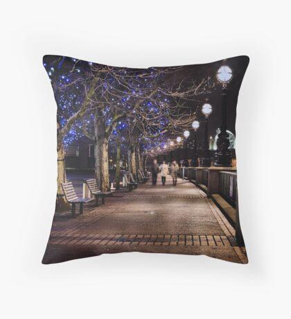 A Stroll Along The Thames Throw Pillow