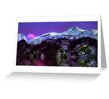 Mountain Sunset in Winter  Greeting Card