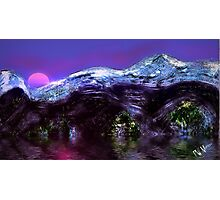 Mountain Sunset in Winter  Photographic Print