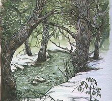 River Snow Scene by Jimsteele2015
