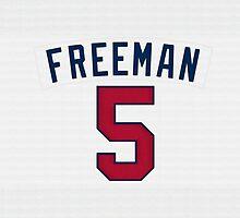 Freddie Freeman by BaseballBacks