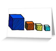 Realm of the Mad God - Cube God Cubes Greeting Card