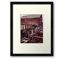 Abandoned Pier at Sunset  Gloucester MA Framed Print