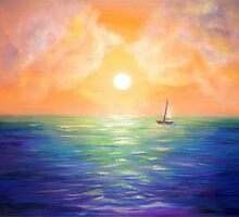 Sailing at the Sunset by Art Dream Studio