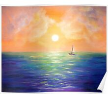 Sailing at the Sunset Poster