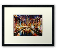 NIGHT AMSTERDAM limited edition giclee of L.AFREMOV painting Framed Print