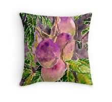 Mango tree fruit still life painting art Throw Pillow