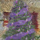 Lavender Garland Christmas Tree by RoyAllen Hunt