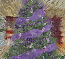 Lavender Garland Christmas Tree by RoyAllen Hunt