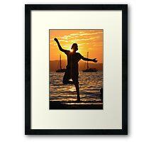 Oren Silhouette Framed Print