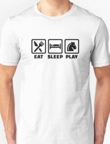 Eat sleep play Chess Unisex T-Shirt
