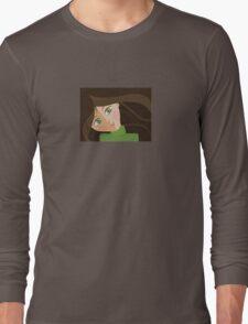 Green eyes portrait t-shirt Long Sleeve T-Shirt