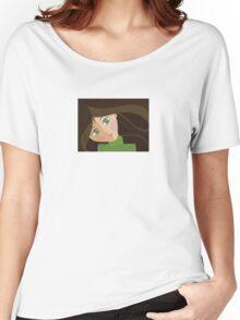 Green eyes portrait t-shirt Women's Relaxed Fit T-Shirt