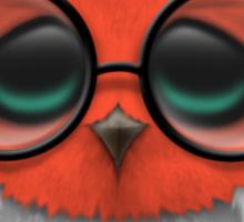 Nerdy Austrian Baby Owl on a Branch Sticker