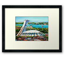 MONTREAL OLYMPIC STADIUM MONTREAL SKYLINE PAINTINGS Framed Print