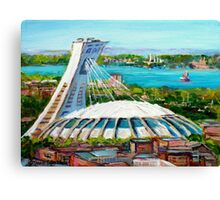 MONTREAL OLYMPIC STADIUM MONTREAL SKYLINE PAINTINGS Canvas Print