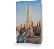 New York in Gold Greeting Card
