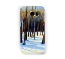 WINTER SCENE LANDSCAPE CANADIAN ART PAINTINGS Samsung Galaxy Case/Skin