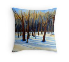 WINTER SCENE LANDSCAPE CANADIAN ART PAINTINGS Throw Pillow