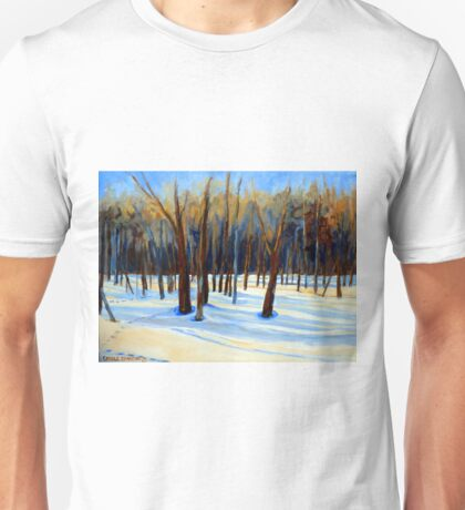 WINTER SCENE LANDSCAPE CANADIAN ART PAINTINGS Unisex T-Shirt