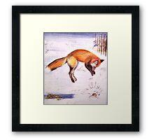 Vixen on the Hunt! Framed Print