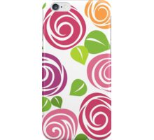Painted roses iPhone Case/Skin