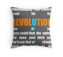 Muse Band Revolution Uprising  Throw Pillow