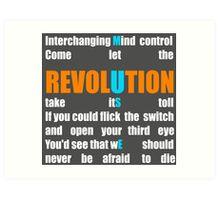 Muse Band Revolution Uprising  Art Print