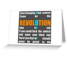 Muse Band Revolution Uprising  Greeting Card