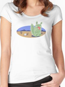 Squirrel Cactus  Women's Fitted Scoop T-Shirt