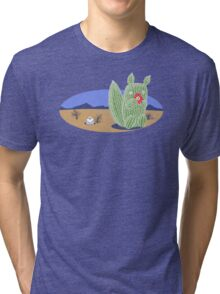 Squirrel Cactus  Tri-blend T-Shirt