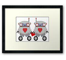 Robot Romance Framed Print